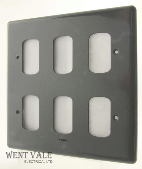 Legrand Synergy - 7339 82 - Metalclad Six Module Switch Plate New